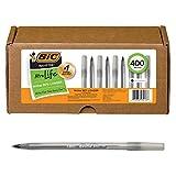 BIC Round Stic Xtra Life Ball Pen, Black, 400 count