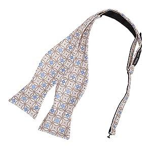 Dan Smith Men's Fashion Pattern Microfiber Self-tie Bowtie With Box