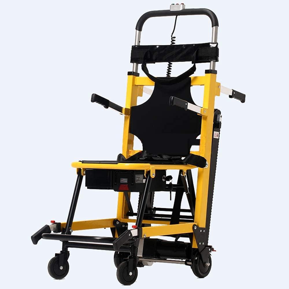 Silla elevadora de escaleras eléctrica Elevadores de escaleras motorizados para personas mayores Camión de mano ajustable Escalador de escaleras plegable Silla de ruedas ligera de aleación de aluminio