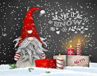 Let It Snow ダイヤモンドペインティングキット 大人 キッズ クリスマス 静物 伝統的 スカンジナビア人 ドワーフ トムテ ノーム ペインティング 番号付き Diamond Dotz 5D クリスタル 宝石 アート 壁装飾 (赤、12x12インチ)
