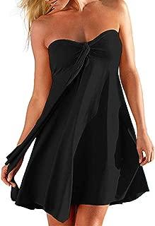 Women Swimsuit Cover Up Bikini Beach Dress Skirt Strapless Casual Swimwear