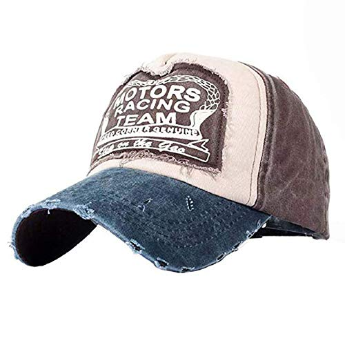 YULOONG Classic Baseball Cap 100% Baumwolle Vintage Washed Denim Dad Hat Verstellbare Größe für Männer Frauen Unisex