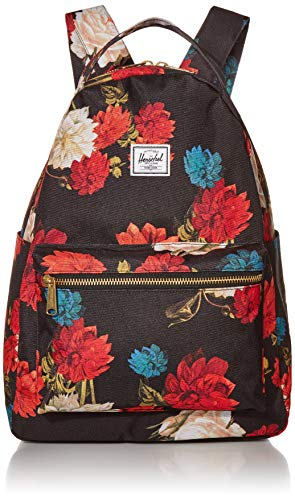 Herschel Nova Mid-Volume Backpack, Vintage Floral Black, One Size