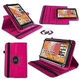 NAUC Tasche Hülle für Blaupunkt Endeavour 101M 101L Tablet Schutzhülle Case Tab Cover, Farben:Pink
