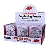 SHUYUE 24Pcs Assorted Metal Brain Teasers Large Metal Wire IQ Puzzles with Paper Box Gift Package Assembly & Disentanglement Great Educational Intelligence Toys for Child and Adult