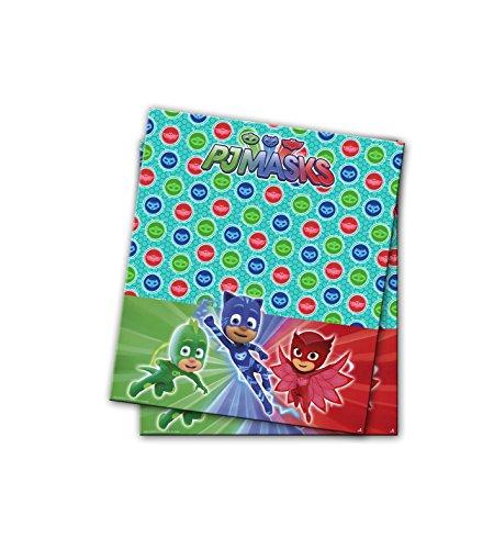 PJ Masks 0547, Mantel de plástico Fiestas y cumpleaños, Dimensiones 120x180cms