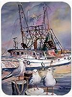 Caroline's Treasures Sea Gulls & shrimp boats Mouse Pad/Hot Pad/Trivet (JMK1196MP) [並行輸入品]