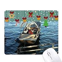 中国湖釣り写真 ゲーム用スライドゴムのマウスパッドクリスマス