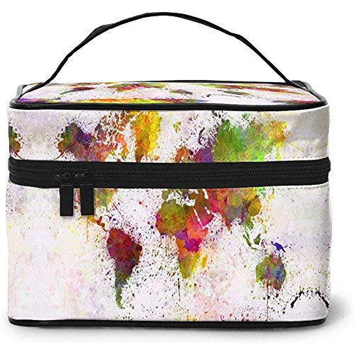 Reis make-up tas Magic World MapToietry make-up tas tas dode case organizer opslag voor vrouwen meisjes