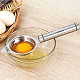 Egg Separator Stainless Steel - Egg Yolk White Separator Kitchen Gadgets Baking Tools Yolk Remover Egg Divider Yoke Separators Egg Filter