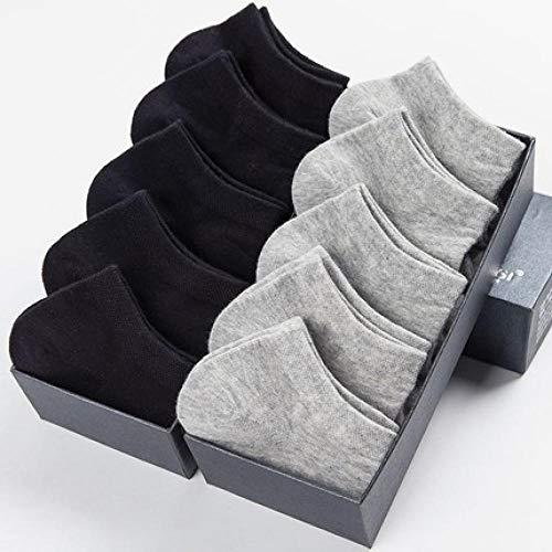 TIGERROSA Zwarte sokken 10 paar / losse zomer dunne katoen korte sokken voor mannen Meias zwart wit boot sokken mannen jurk geschenken schoenen kleding soxsize 39-43 Stylea