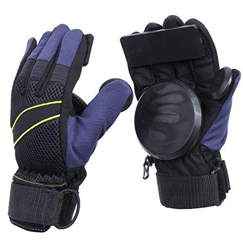 Andux Zone Adult Grip Freeride Slid Guanti Skateboard con Foam Palm HBST-03 (Nero, M)