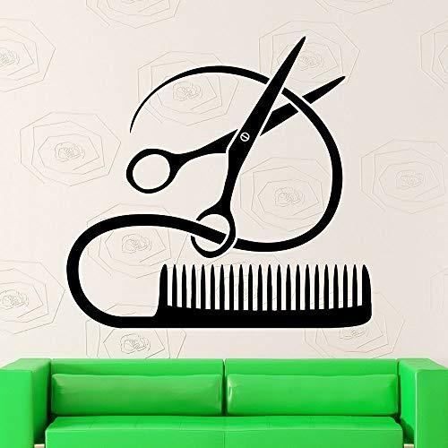 yaonuli Barber Tools Wandaufkleber Frisur Shop Haarstylist Vinyl Wandtattoo Beauty Salon Wohnzimmer Home Decor30X31cm