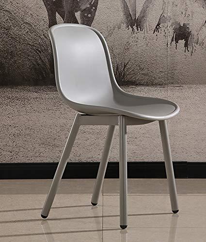 LC-SHBAGS eetkamerstoel, moderne stoel, eenvoudige stijl, kunststof eetkamerstoel, voor volwassenen, eenvoudige eettafel, kruk, Eames stoel, veelkleurig grijs