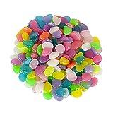 Alexen 200 Piezas de Colores Brillantes guijarros del jardín, Brillan en...