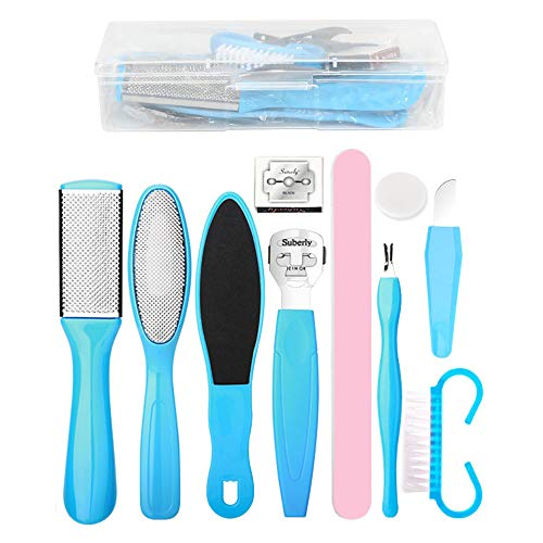 Professional Pedicure Tools Set, Foot Care Kit Stainless Steel Foot Rasp Foot Dead Skin Remover Pedicure Kit for Men Women Foot Spa or Home Best Gift (11pcs)