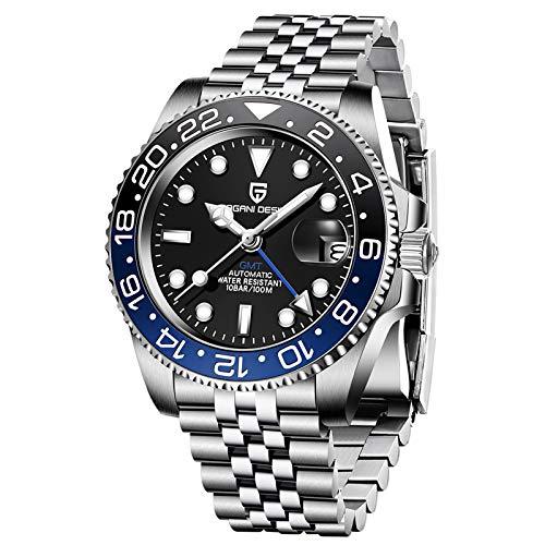 Pagani Design Men's GMT Automatic Watch Luxury Sapphire Waterproof Business Watch 1662...