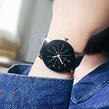 maibuy レディースクォーツ時計 女性用女性腕時計 ラウンドダイヤルケース快適なフェイクレザー腕時計 ユニークなアナログクリアランスレディー腕時計 WoMen 039 s Watch - black