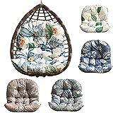 ZJHTK Hamaca colgante para silla de jardín, cojines de mimbre de ratán para interiores y exteriores, repelente al agua (solo cojín de silla), bosque tropical