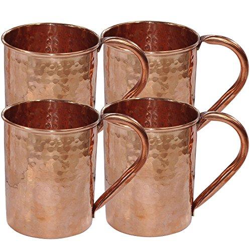 Stylla London Pliables Accessoires martelé Moscow Mule Mug, Bois, Cuivre, 7.87 x 6.85 x 3.46 cm