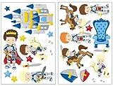 21 teiliges caballeros de juego de adhesivos decorativos para habitación...
