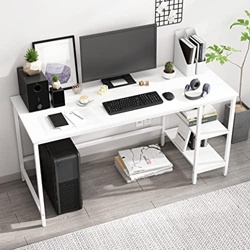 JOISCOPE Scrivania per Computer, Tavolo per Laptop, Scrittorio per Studio con Ripiani in Legno,...