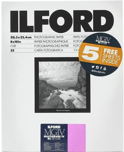 Ilford latest Multigrade IV RC DeLuxe Paper High order Sheets x Glossy 10