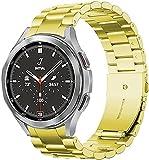 Cinturino in metallo 20mm Compatibile per Samsung Galaxy Watch 4 44mm 40mm/Galaxy Watch 4 Classic 42mm 46mm Cinturino sportivo in acciaio inossidabile per Galaxy Watch 4 44mm 40mm/Classic 42mm 46mm