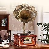 KK Zachary Retro Retro Europeo del Big Horn De Gramófono Disco De Vinilo Máquina Multifunción Adornos De CD Reproductor De Radio Bluetooth De Regalo Subwoofer 46 * 36 * 83cm