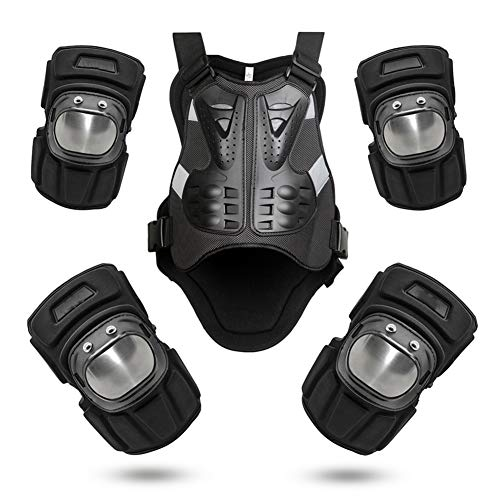 LAIABOR Chaqueta Protectora De Motocicleta Body Armor Protector De Pecho con Coderas Y Rodilleras Seguro Y Confiable para Motocross Off-Road Dirt Bike ATV Esquí Patinaje sobre Hielo