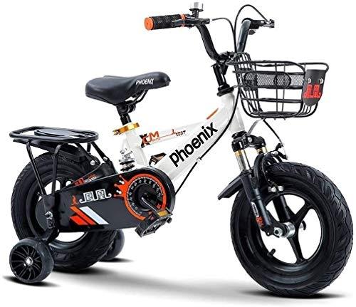 Bicicletas ligeras para niños De la muchacha del muchacho Bikefor 3-9 Años de Edad 12 14 16 18 pulgadas de bicicletas niños con ruedas de entrenamiento o blanco de bicicletas pata de cabra cesta niñas