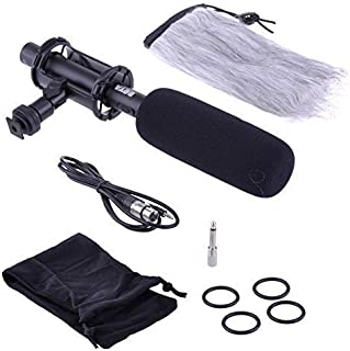 BOYA BY-PVM1000 Condenser Shotgun Microphone Interview 3-pin XLR Output on DSLR Camera Microphone