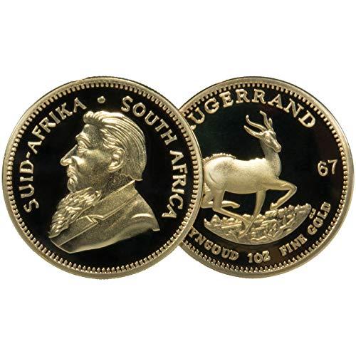 GESCHENK 1967 Krügerrand Medaille - vergoldet - Scherzartikel