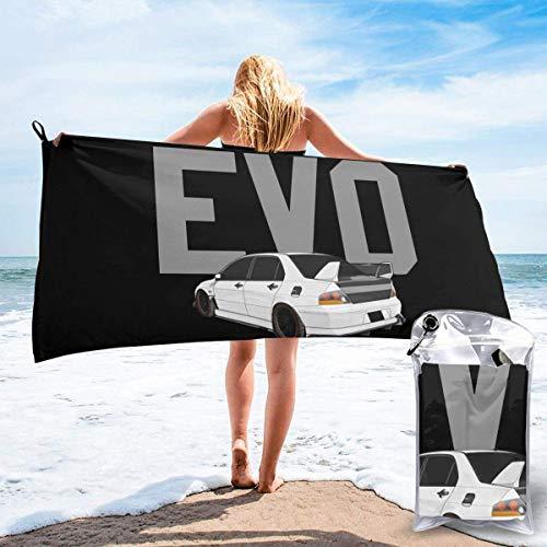 vfrtg Mitsubishi Evolution Evo Triple Diamond Tuner Schnelltrocknendes Handtuch Two Size Unisex