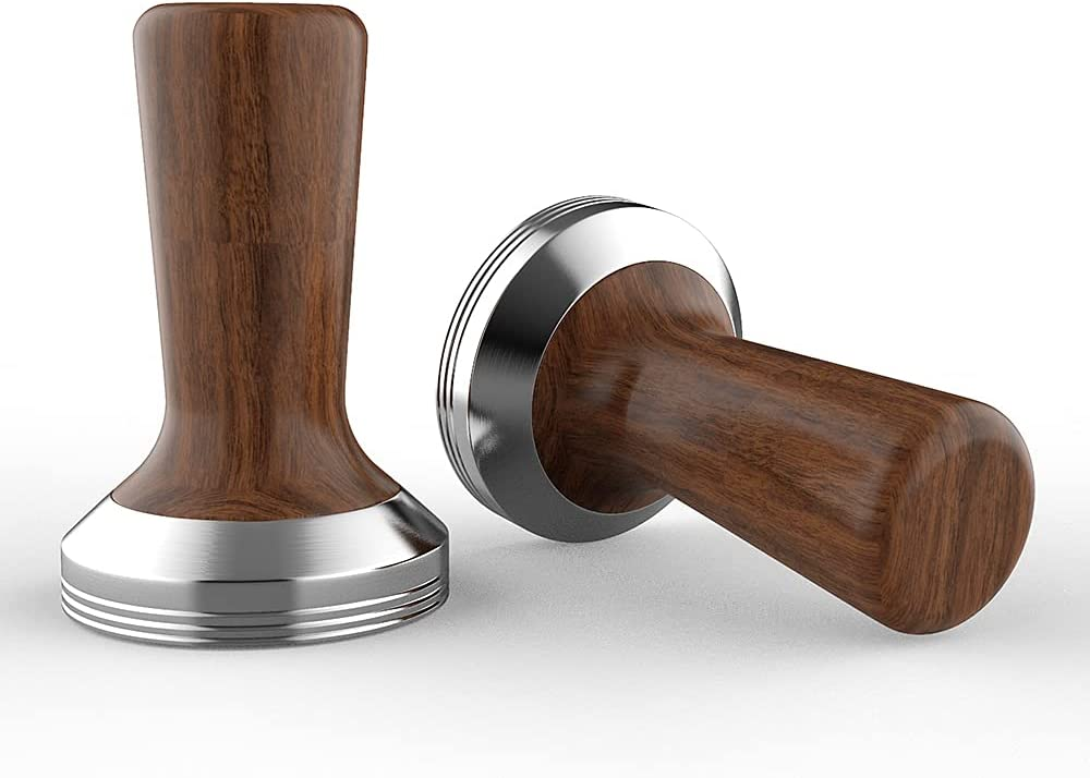 MGCM Coffee Super popular specialty store Tamper Free Shipping New Wooden Stainle Tamping Handle Espresso