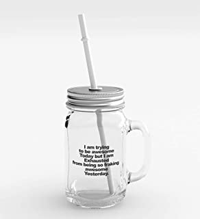 Clear Glass Mason Jar Just Have a Little Faith Party Favour with Lid/Straw