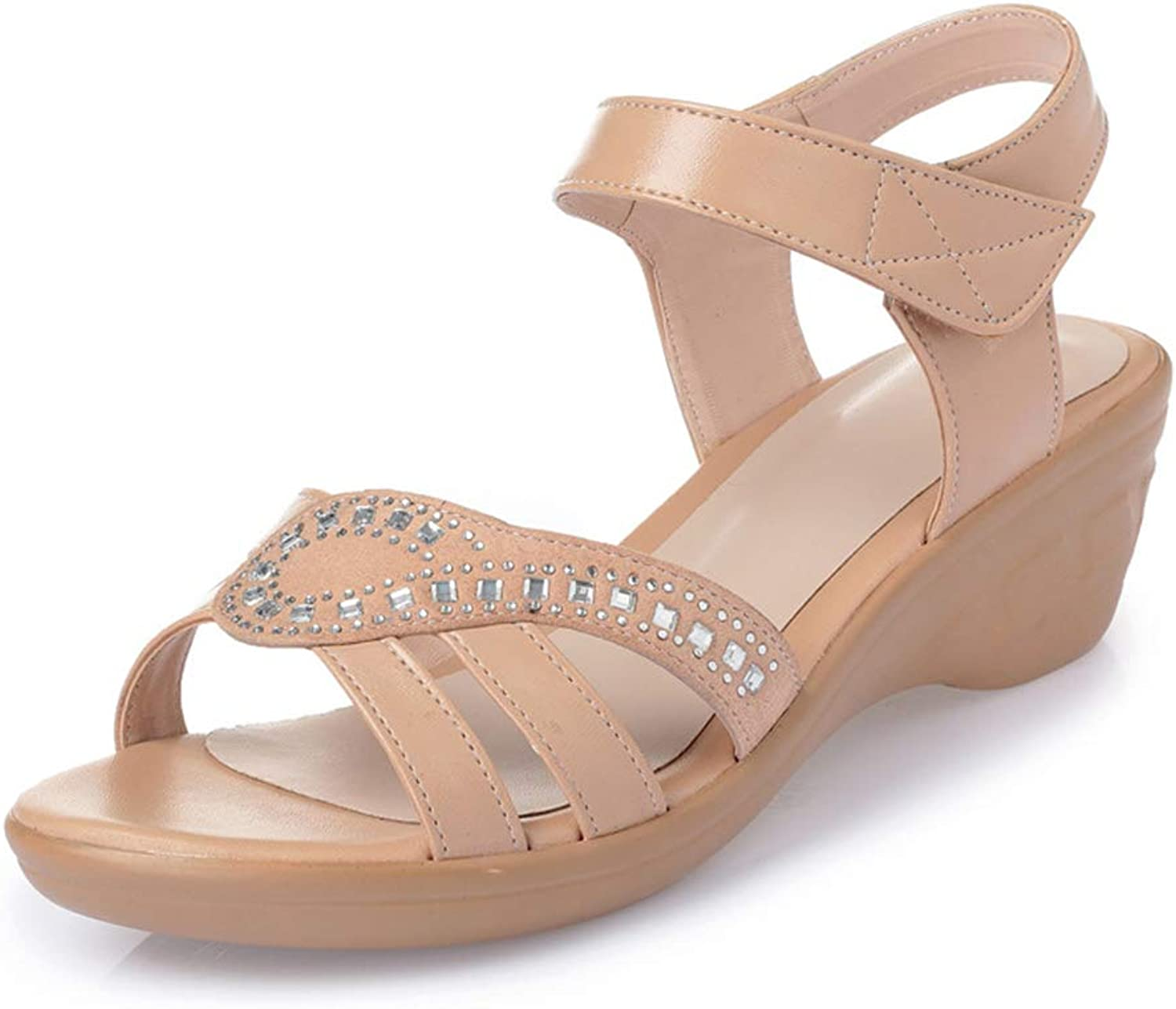 F1rst Rate Women's Summer Fashion Design Ankle Low Wedges Sandals