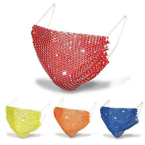 (40% OFF) 4Pcs Rhinestone Face Mask $10.13 – Coupon Code