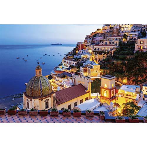 GuDoQi Puzzle 1000 Piezas Adultos Rompecabezas Costa de Amalfi para Infantiles Adolescentes