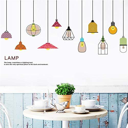 QTYUE 3D Licht Muursticker Slaapkamer Woonkamer Restaurant Winkel Raam Muurstickers muurschildering Poster Home Decor