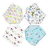 Bragas de aprendizaje lavables de 4 piezas, para bebé o niño, niño, bragas antifugas, de algodón impermeable estilo 1 2-3 Años