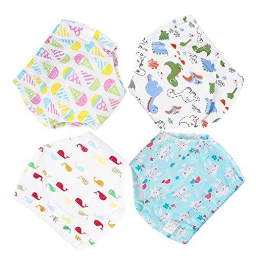 DEMU 4 stuks waterdichte baby leerluier trainingsbroek ondergoed luiers luier broek