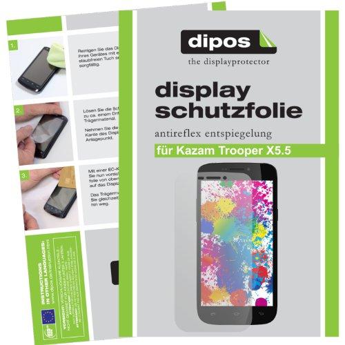 dipos I 2X Schutzfolie matt kompatibel mit Kazam Trooper X5.5 Folie Bildschirmschutzfolie