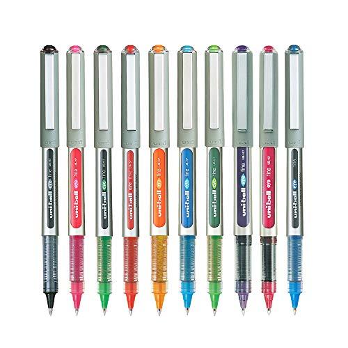 uni-ball Eye UB157 Roller Pen (Assorted Color, Pack of 10)