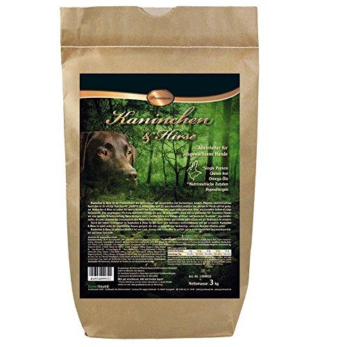 DOGREFORM Kaninchen u Hirse Premium Trockenfutter Single Protein Glutenfrei Hypoallergen Nutrizeutische Zutaten für sensitive und allergische Hunde frei von Lock-, Aroma- und Füllstoffen (24 kg)