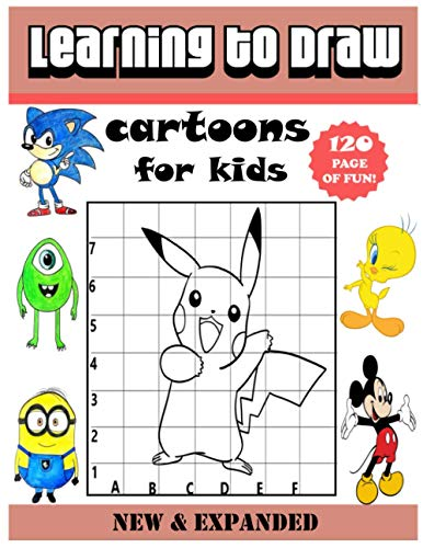 Learning to draw cartoons for kids: Easy Techniques and Step-by-Step Drawing and Activity Book for Kids to Learn to Draw cartoons for kids