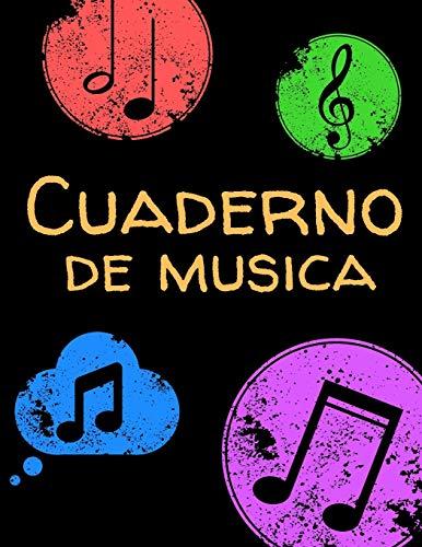 Cuaderno de musica: Cuaderno De Música Pentagramado, Con 8