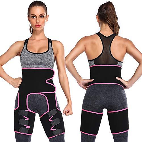 Faja Reductora Mujer Adelgazante, 3 En 1 Cintura Entrenador, Faja Adelgazante, Cinturón Lumbar Abdominal para Sudar y Hacer Deporte,Fitness y Proteger los lumbarespurple-Medium