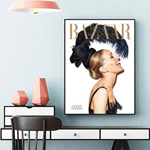 ACEYCHUANG Zeitungscover Leinwand Poster, Modestil, Wohnaccessoires für die Zeitungsagentur 50x70cm-C