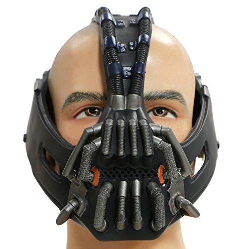 Bane Maske The Dark Knight Rises Cosplay Kostüm Zubehör Gun Metal Color Version für Herren Kleidung Merchandise (New Version)